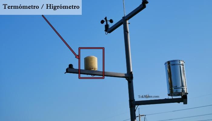 Temperatura e Higrómetro con Protección Solar